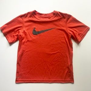 Boys Nike Dri-Fit Orange Grey Shirt Size Small EUC